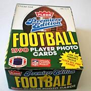 Premier Edition 1990 Fleer Football  Wax Box 36 SEALED Packs