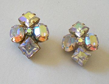 Fancy Vintage Rhinestone Earrings