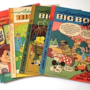 (4) Vintage Advertising Comic Books Adventures of the Big Boy