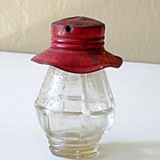 Vintage Glass Candy Container Lantern Shape