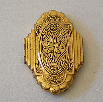 Large Vintage Brass Locket