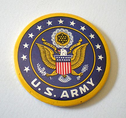 Vintage WWII U.S. ARMY Pocket Mirror