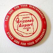 Vintage Airport Aviation Advertising Pocket Mirror