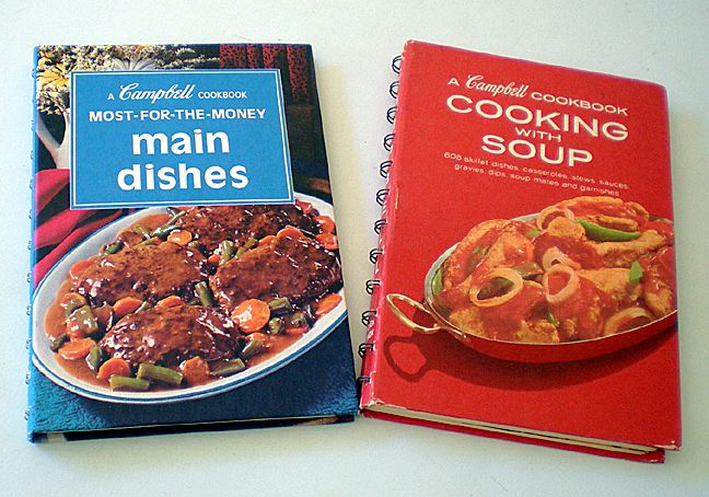 (2) Vintage Cookbooks Campbell Soup