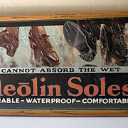 Framed 1920's Advertising Print Neolin Soles