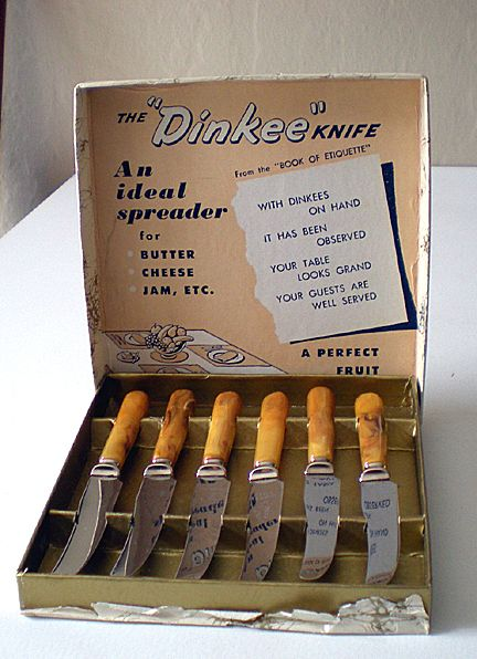 Vintage 1940's Knife Set In Box BAKELITE Handles