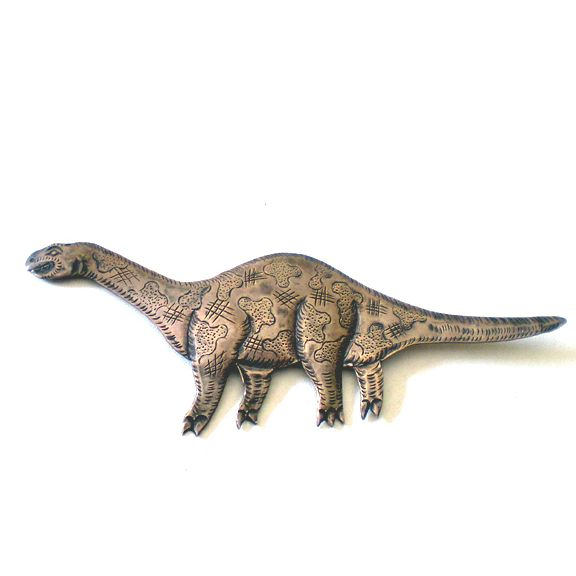Large Silver Dinosaur Brooch