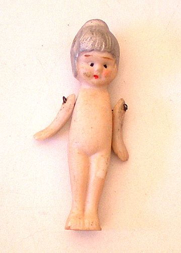 Vintage Bisque Doll With Jointed Arms