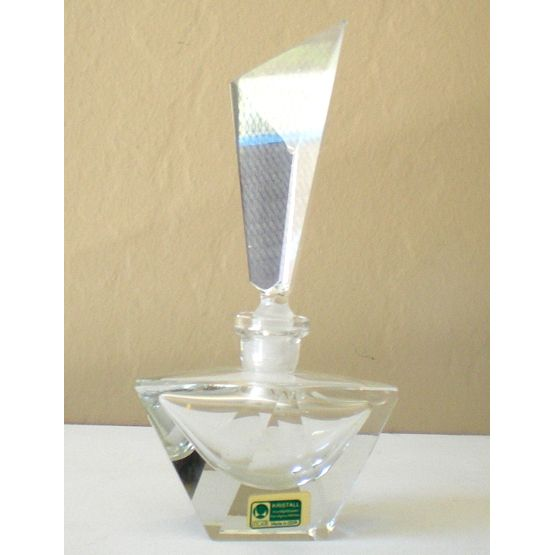 Large Gorgeous Cut Lead Crystal Perfume Bottle & Stopper