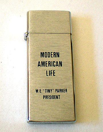 Vintage Advertising Cigarette Lighter Barlow B17 Tallboy