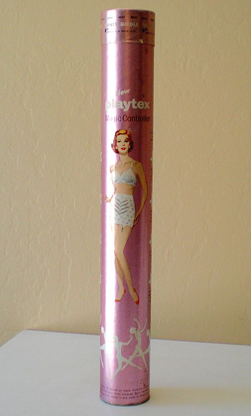 Large 1959 Playtex Girdle Cardboard Tube