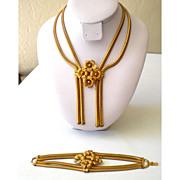 Fabulous Mid Century  Demi Parure Bracelet & Necklace