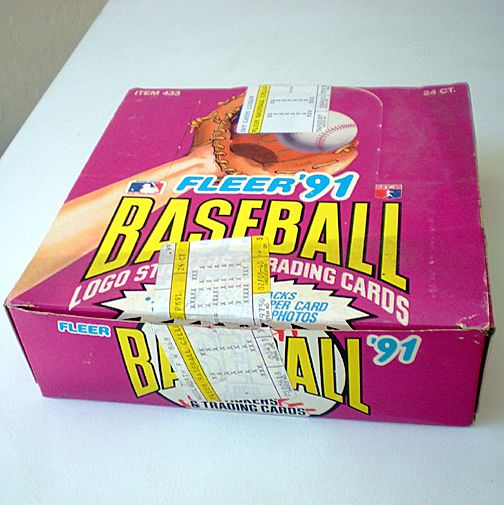 Full  Box 1991 Fleer Baseball Jumbo Packs