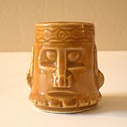Vintage Hawaiian Tiki Pottery Shot Glass