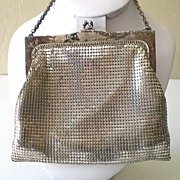 Vintage Whiting and Davis Silver Mesh Purse
