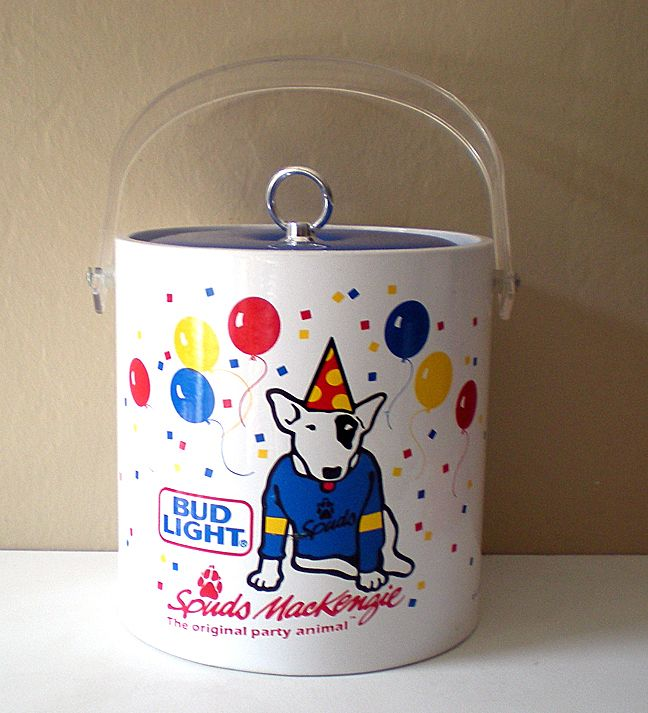 1987 Bud Light Advertising Ice Cooler Spuds MacKenzie