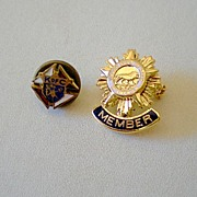 (2) Small Knights Of Columbus Pins