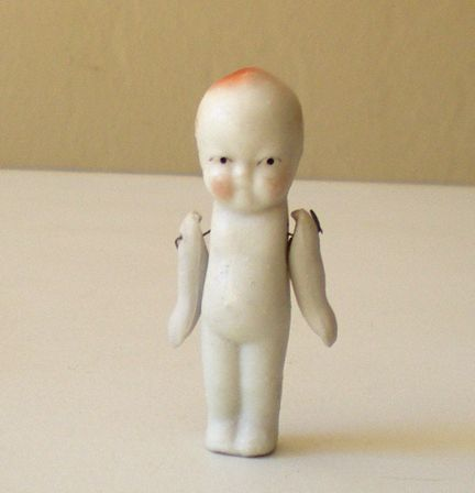 "Old Miniature Bisque Doll ""Japan"""