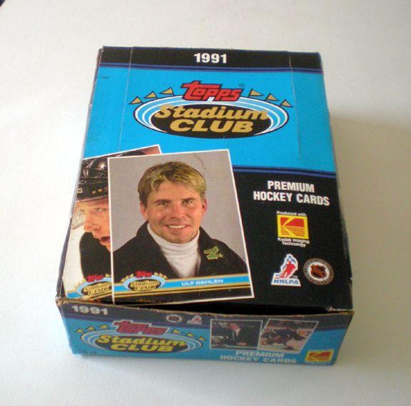 Box Unopened 1991 Topps Stadium Club Premium Hockey Cards