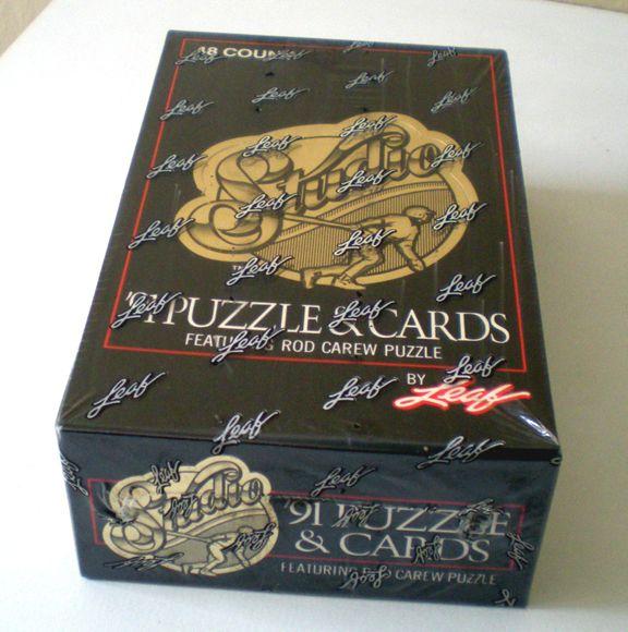 Factory Sealed Box 1991 Leaf Studio Baseball Cards