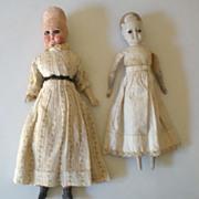 (2) Antique Dolls Need Help! 1800's