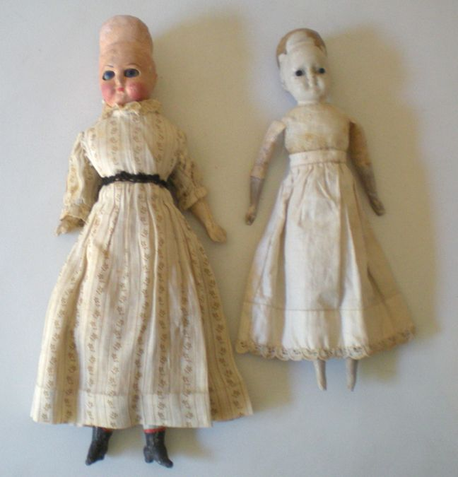 (2) Antique Dolls Need Help! 1800's