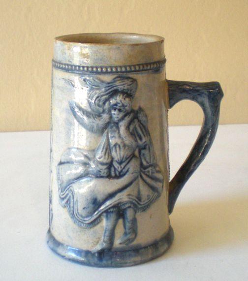 Vintage Stoneware Pottery Advertising Mug San Francisco