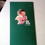 1992 Laminated Menu Elias Brothers Big Boy Restaurant