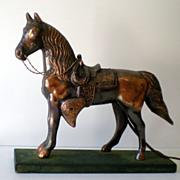 1940s-1950s Metal Horse TV Lamp