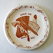 Vintage Sterling China Harold's Club Reno Plate Russel Wright