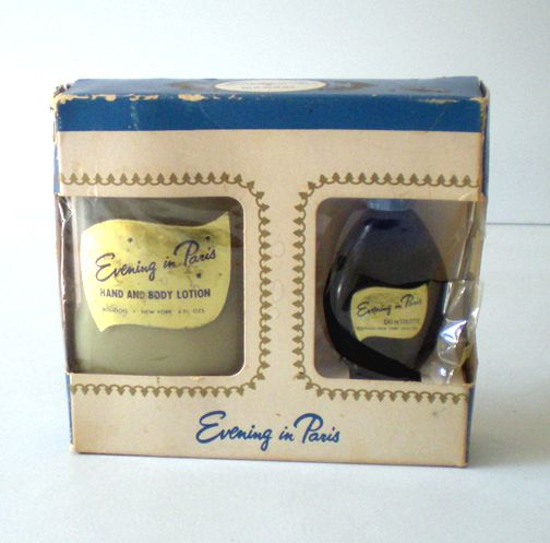 Vintage Bourjois Evening in Paris Boxed Set Cologne & Lotion