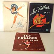 (3) 1940s Ice Follies Programs Great Advertising