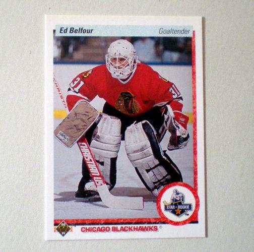 1990 Upper Deck Ed Belfour Rookie Card Chicago Blackhawks