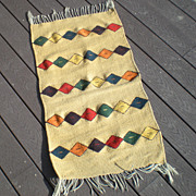 Vintage Hand Woven Indian Rug
