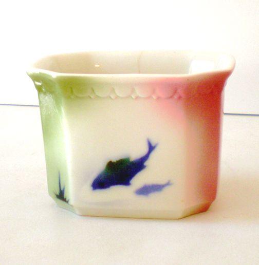 Rare Syracuse China Airbrush Fish Planter Restaurantware