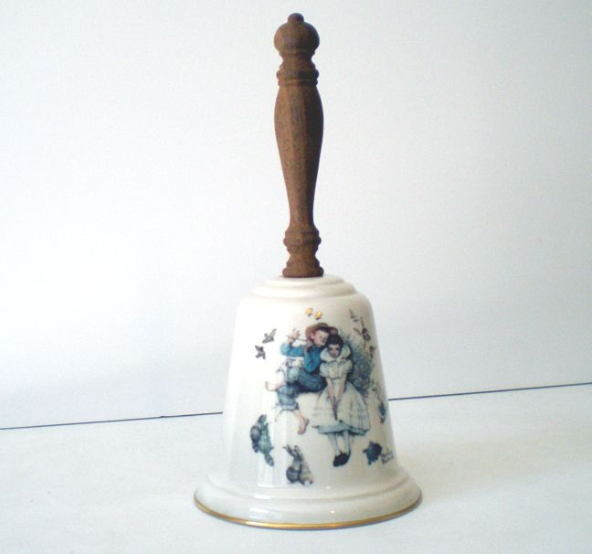"Norman Rockwell ""Love's Harmony"" Porcelain Bell Dated 1975"