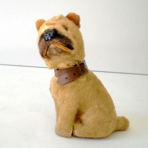 Vintage WORKING Wind Up Toy Dog Japan