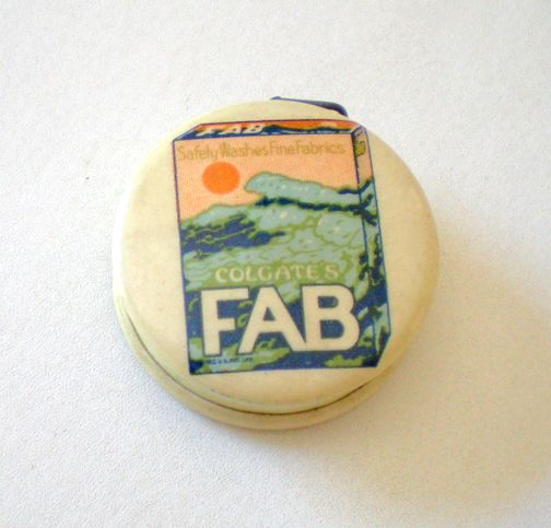 1930's Advertising Tape Measure Colorful Graphics