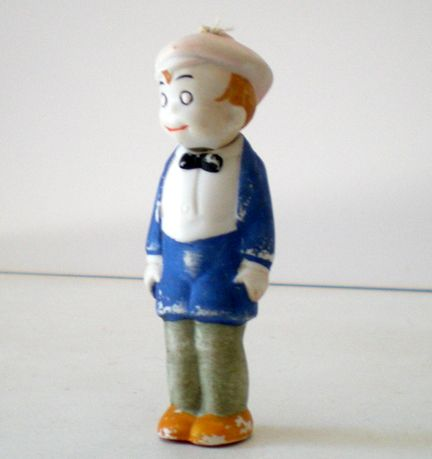 "1920's ""SMITTY"" Bisque Bobble Head Doll Germany"