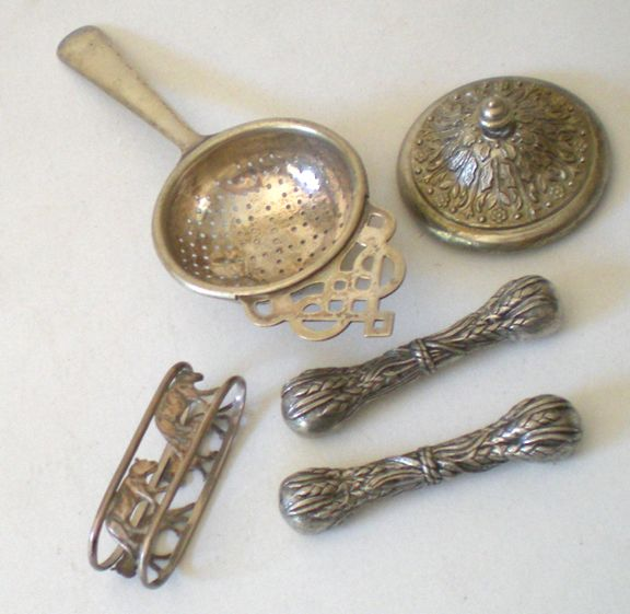 Group Of Victorian Table Items Silver Plated