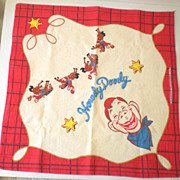 Colorful Howdy Doody Handkerchief or Scarf