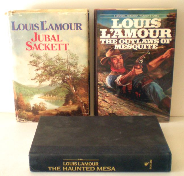 (3) Louis L'Amour Hard Back Western Books