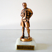 Vintage Metal Copper Boy Scout Statue Trophy