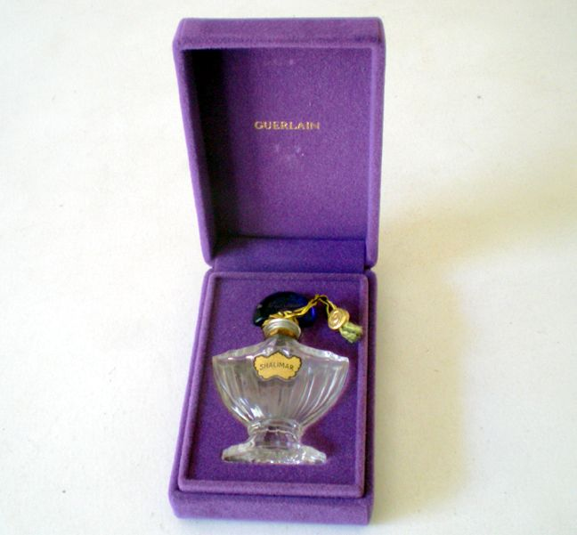 Mini Perfume Bottle Guerlain Shalimar Paris /Box