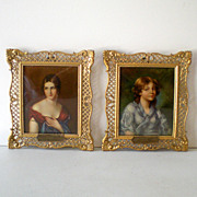 (2) Miniature French  Paintings Framed