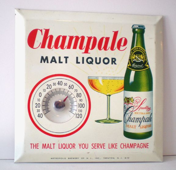Vintage Advertising Thermometer Champale Malt Liquor From