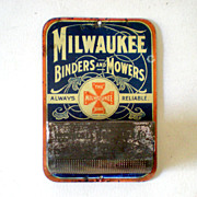 Vintage Advertising Tin Matches Holder Circa 1900