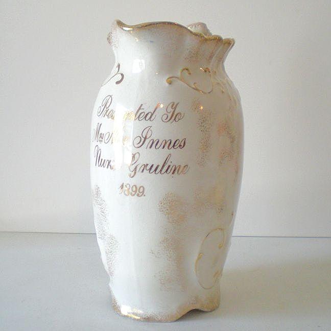 "Award Presentation Pitcher ""Nurse Gruline"" Dated 1899"