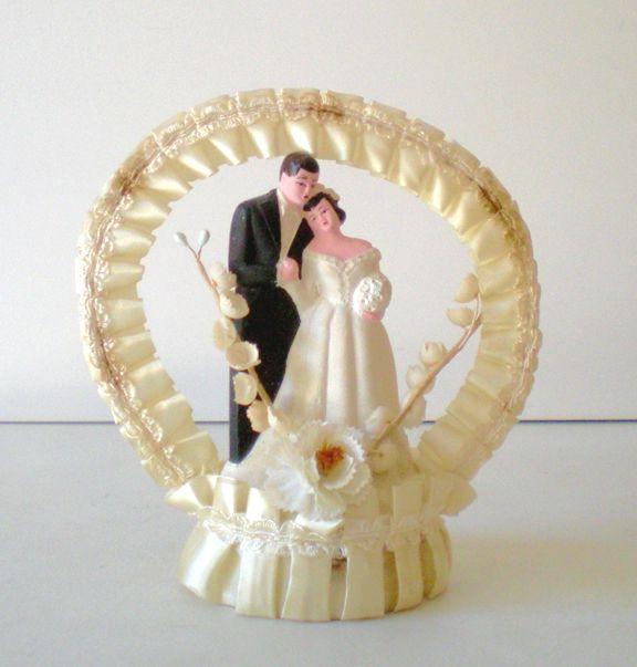Wedding Cake Toppers Vintage: Sweet Vintage Wedding Cake Topper Bride And Groom