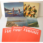 Lot of Airline and Hawaiian Paper Items 1960s